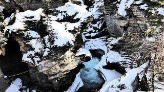 Les rocheuses en hiver